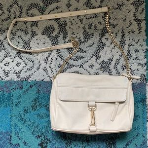 Forever 21 White Leather Shoulder Bag